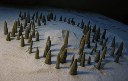 "Belemnieten"", installatie, Expo Parcours des Artistes, Virginal (Ittre), 2007"